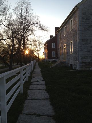 Sunset at shaker village