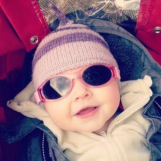 Sashi in the stroller